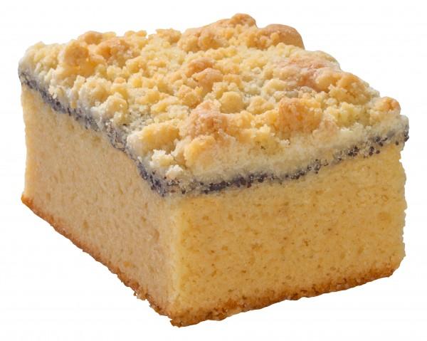 Mohnkuchen mit Streuseln (2 Stücke)