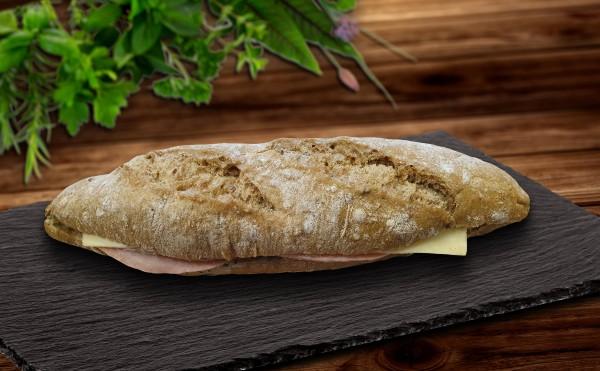 Mehrkornbaguette Schinken Käse